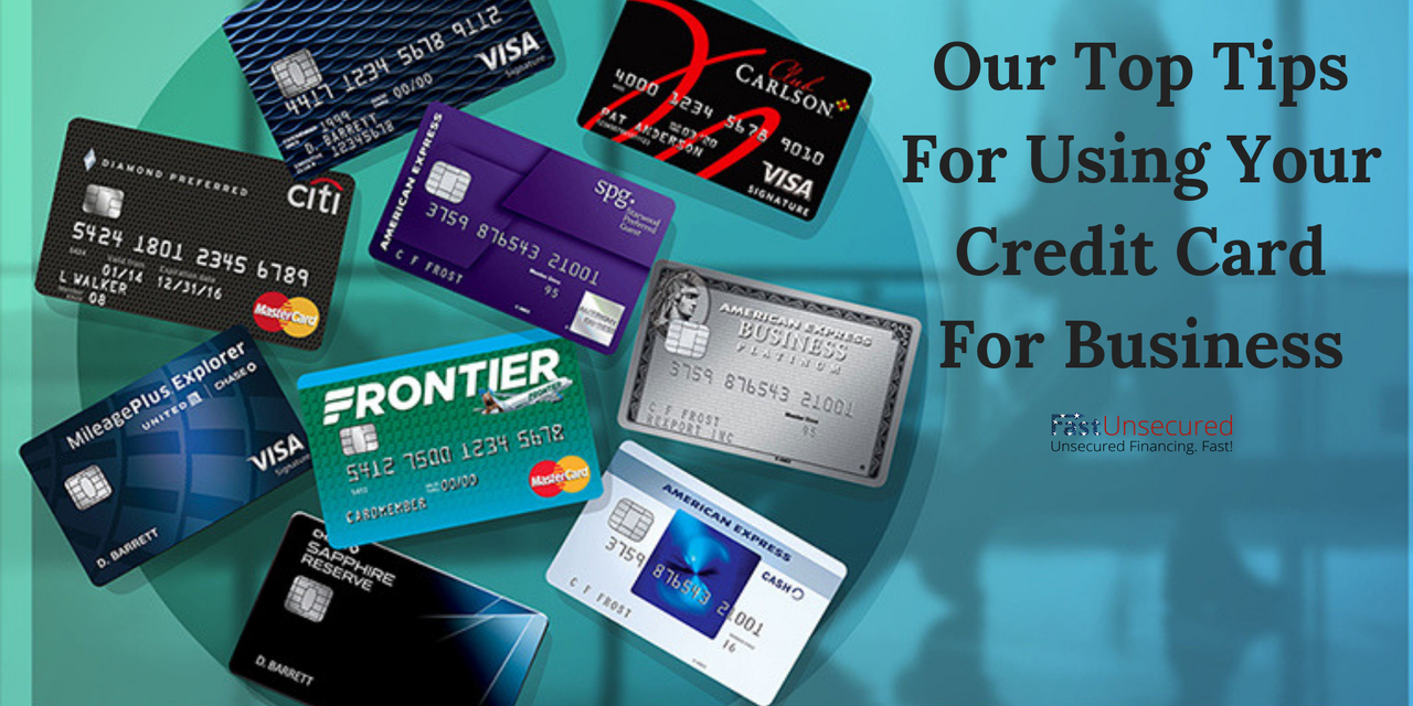 Bunch of credit cards representing tips for using credit cards for business