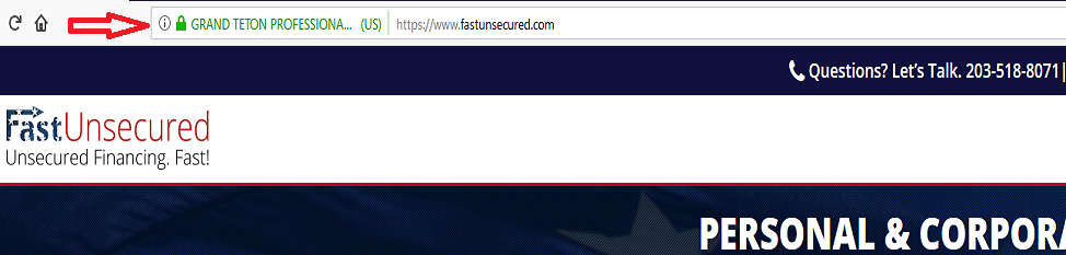 SSL Validation Certificate of Fast Unsecured